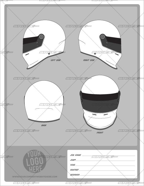 Helmet Template Pack 1 School Of Racing Graphicsschool