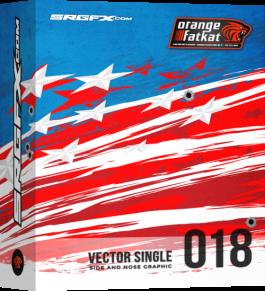 SRGFX RA Vector Racing Graphic Single 018