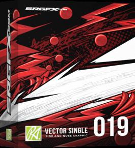 SRGFX RA Vector Racing Graphic Single 019