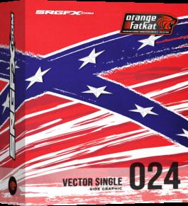 SRGFX OFK Vector Single 024 - Rebel Flag