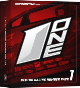 Vector Racing Number Pack 1