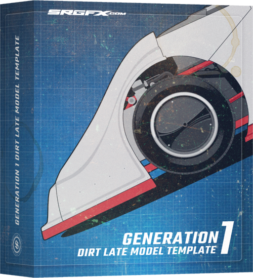 SRGFX Generation 1 Dirt Late Model Template Box