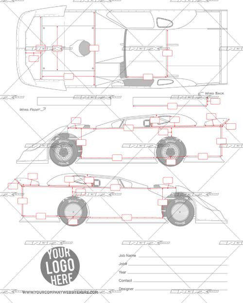 SRGFX Dirt Late Model Template Measurement Sheet