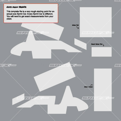 Sprint car template for Race car graphic design templates