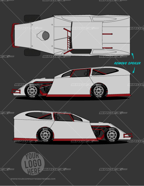 race car graphic design templates dirt modified template 1