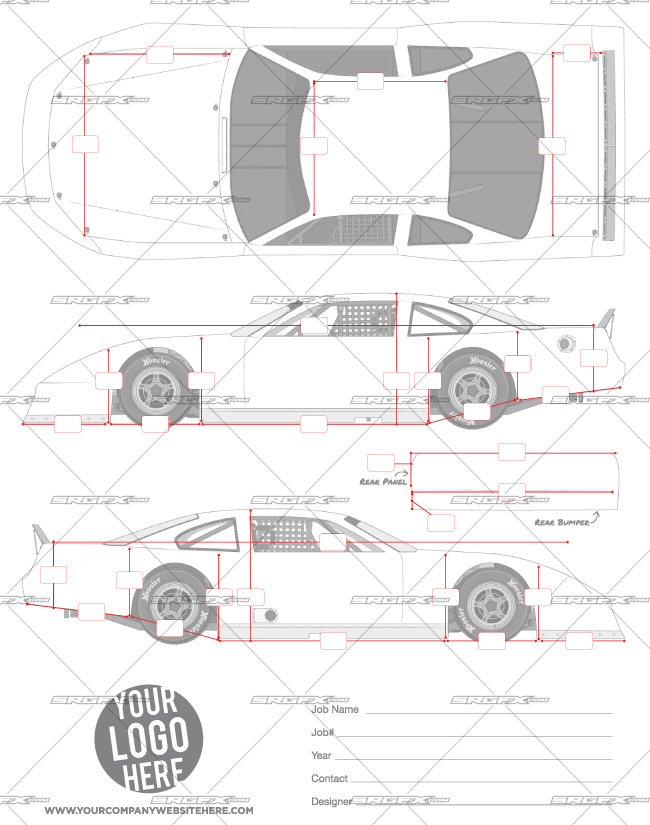race car graphic design templates asphalt late model template