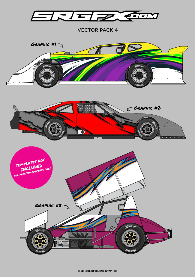 Vector Racing Graphics Pack 4 Srgfx Com