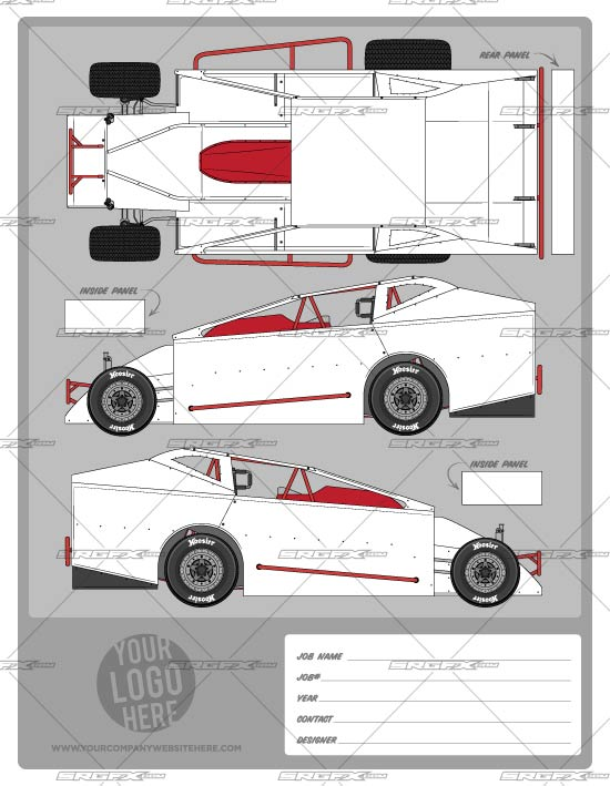Big block modified template school of racing graphics for Race car graphic design templates