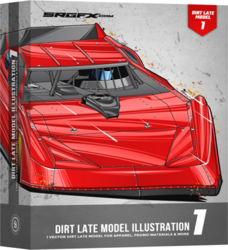 SRGFX Dirt Late Model Illustration 1 Box