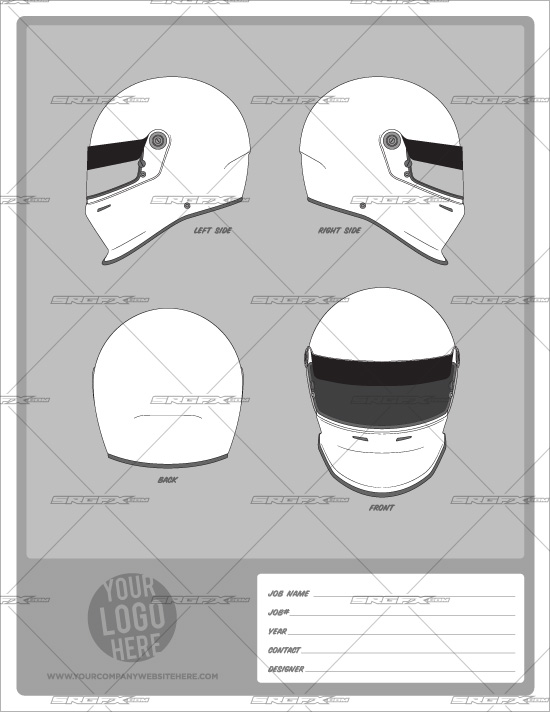 Helmet Template Pack 1 : School of Racing Graphics