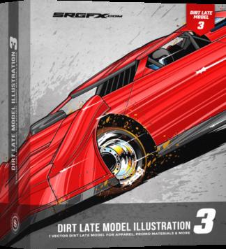 SRGFX Dirt Late Model Illustration 3 Box