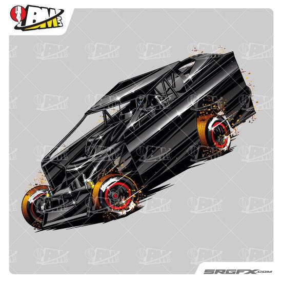 Big Block Modified Illustration 1 School Of Racing Graphics