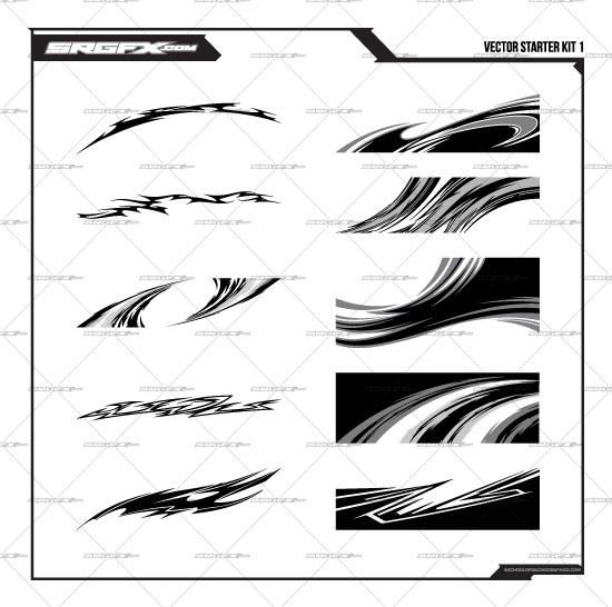 vector racing graphics starter pack 1 | school of racing graphics