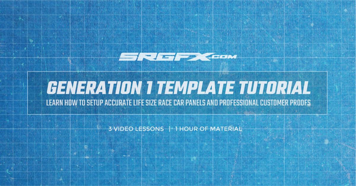 SRGFX Generation 1 Race Car Template Tutorial