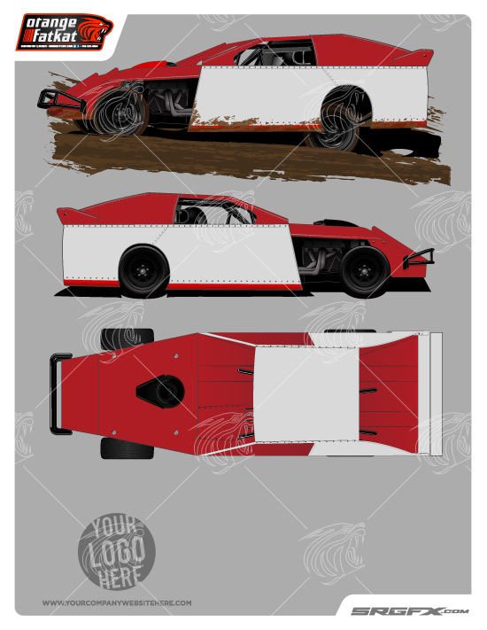 2014 dynamic dirt modified template school of racing for Race car graphic design templates