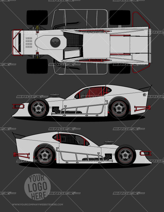 Asphalt modified template for Race car graphic design templates