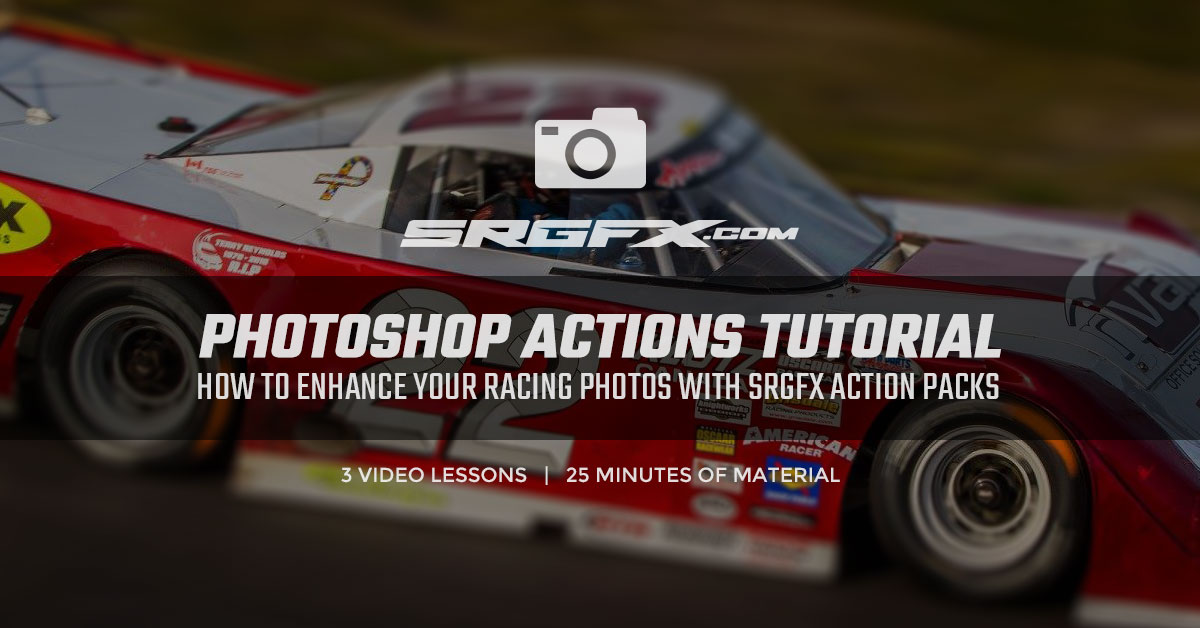 SRGFX Photoshop Racing Photos Actions Tutorial