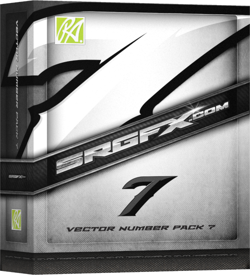 SRGFX Vector Number Pack 7