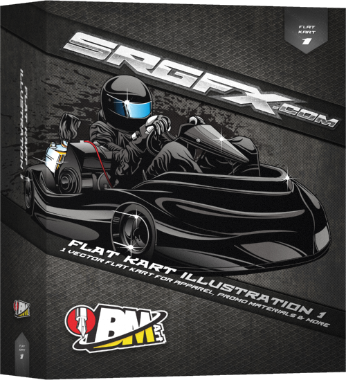 SRGFX BMart Flat Kart Illustration 1