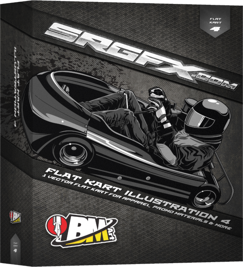 SRGFX BMart Flat Kart Illustration 4