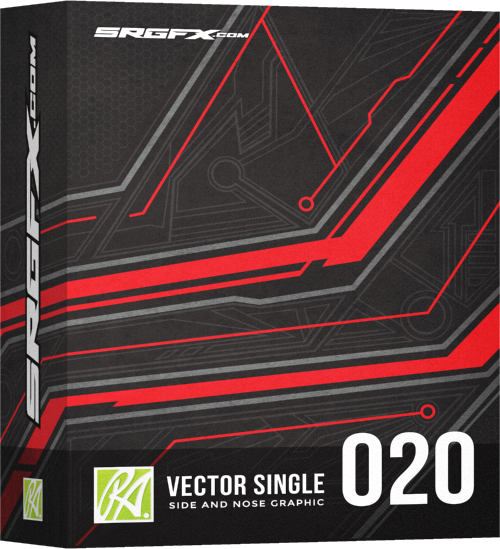 SRGFX RA Vector Racing Graphic Single 020