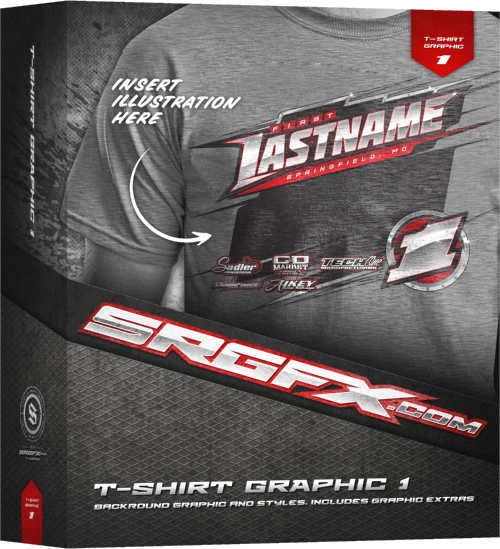 SRGFX T-Shirt Racing Graphic 1