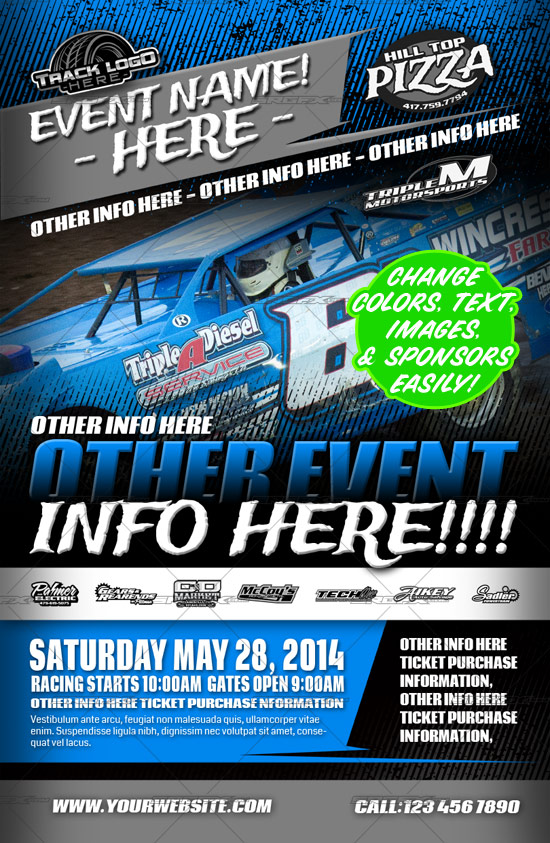 racing event poster template srgfx com
