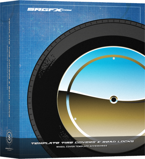SRGFX Template Wheel Covers and Bead Locks