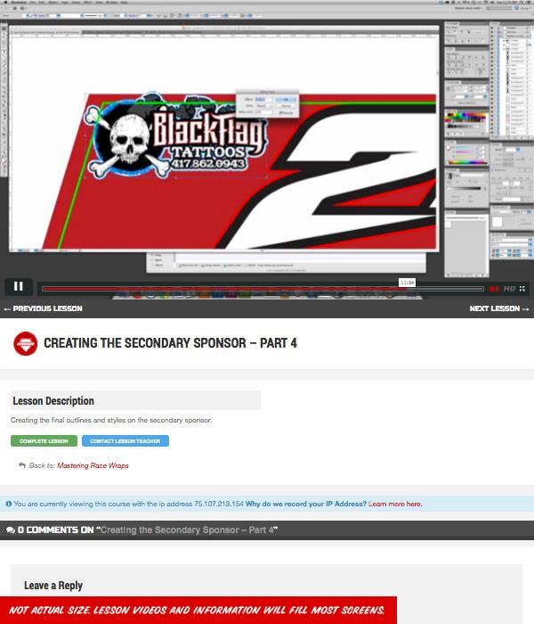Mastering Race Wraps Course Screenshots