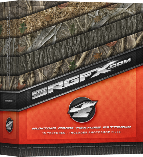 SRGFX Texture Pattern Pack 4 Hunting Camo Box