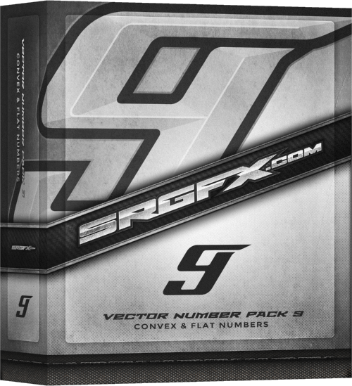 SRGFX Vector Number Pack 9 Box