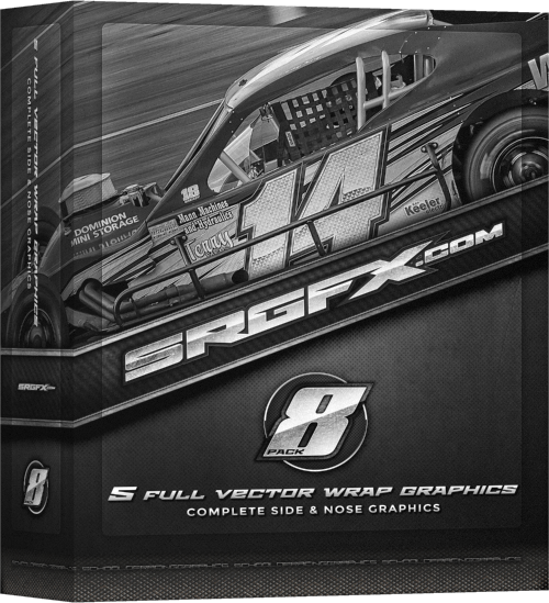 SRGFX Racing Graphics Vector Pack 8 Box