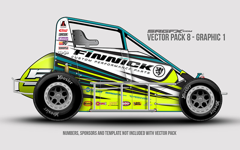 Vector racing graphics pack 8 for Race car graphic design templates