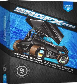 SRGXF Sprint Car Illustration 2 Box