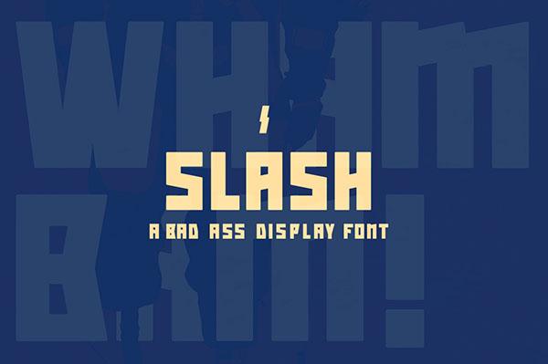 Slash-font