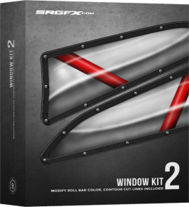 SRGFX Racing Window Decal Kit 2