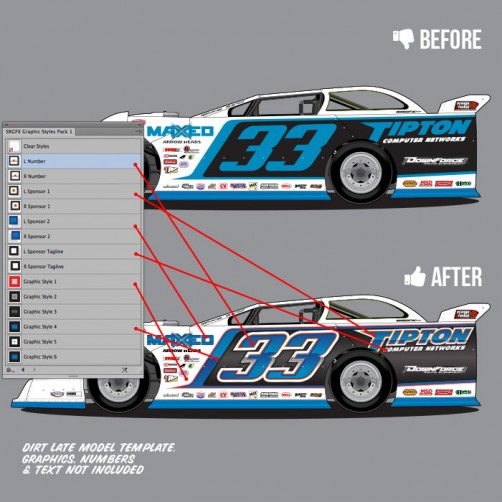 SRGFX Racing Graphic Styles Pack 1