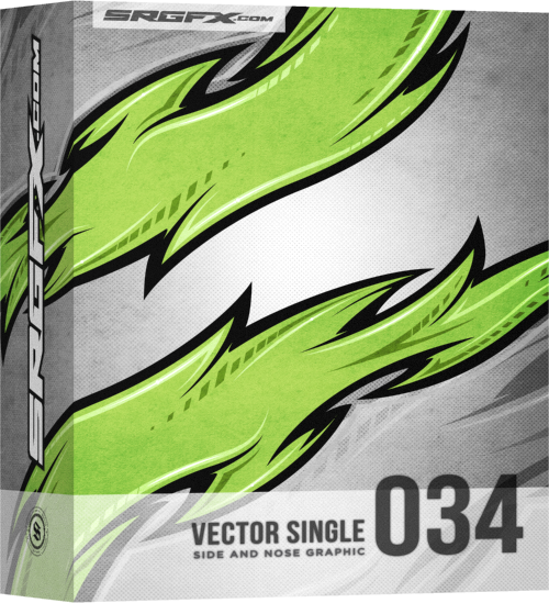 SRGFX Vector Racing Graphic Single 034