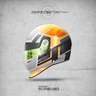 Vector Racing Graphic 032 Helmet