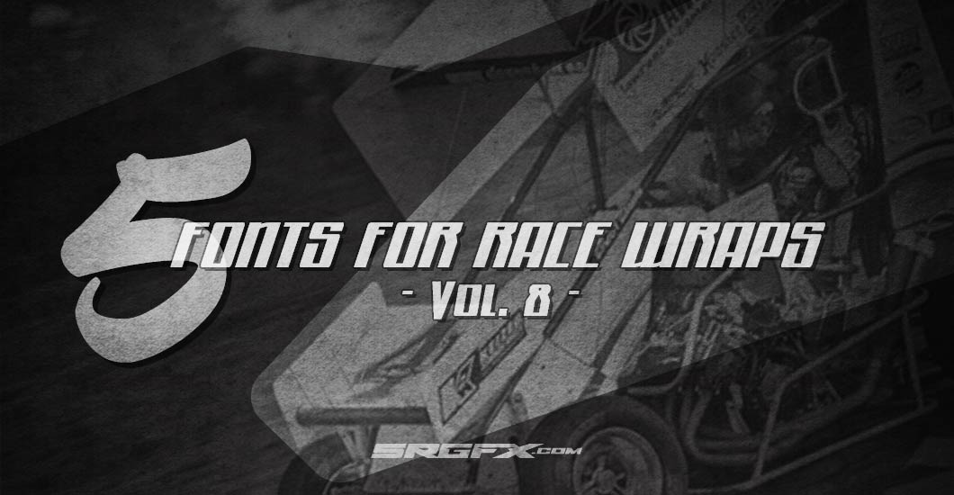 5 Racing Fonts Vol8