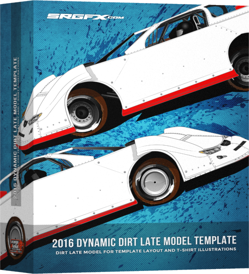 SRGFX 2016 Dynamic Dirt Late Model Template