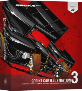 SRGFX Sprint Car Illustration 3