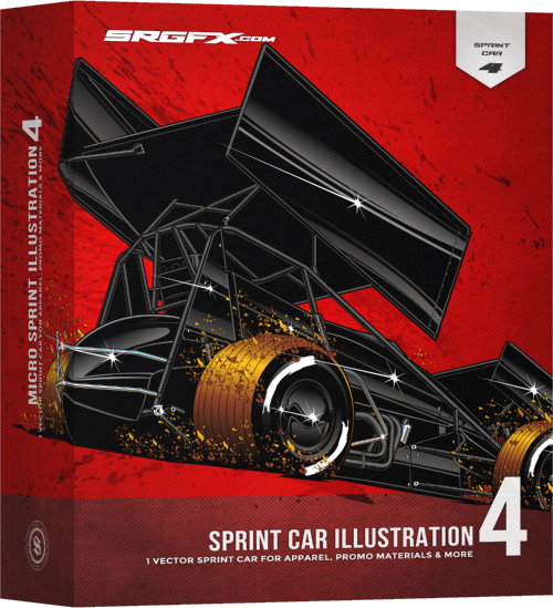 SRGFX Sprint Car Illustration 4