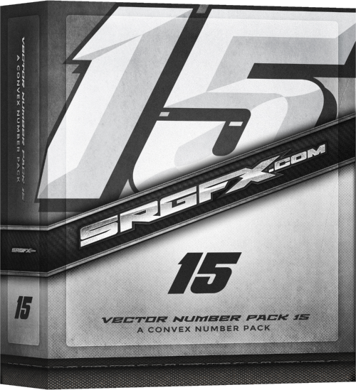 SRGFX Vector Racing Number Pack 15