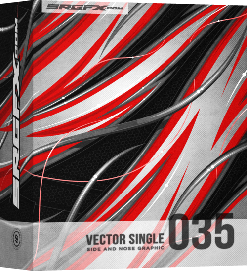 SRGFX Vector Racing Graphic Single 035 Box