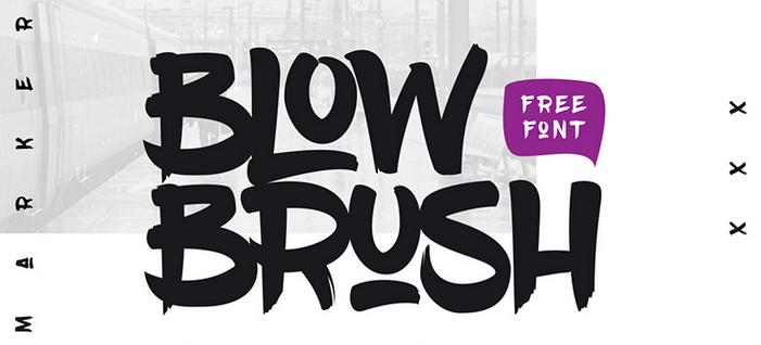 Blow Brush Font