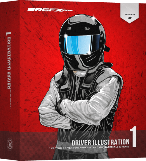 SRGFX Race Car Driver Illustration 1