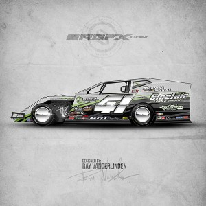 Dirt modified archives school of racing graphics for Race car graphic design templates