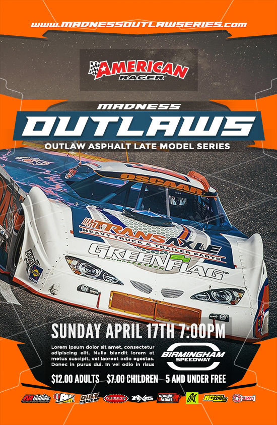 racing event poster template 4