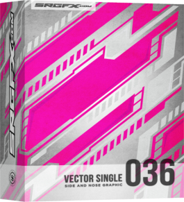 SRGFX Vector Racing Graphic Single 036 Box